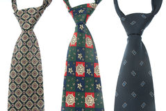 Three ties Stock Photography
