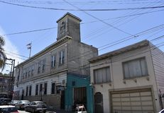 A three time firehouse turned two time bar, 2. First built in 1854 as the San Francisco Fire Station 7 for the Young American Eagle Company, at the time still royalty free stock images