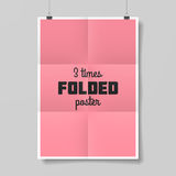 Three times folded poster Stock Images
