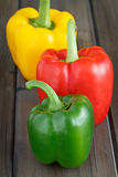 Three times Sweet Pepper Royalty Free Stock Images