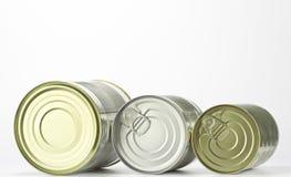 Three tin cans Stock Image