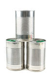 Three tin cans Royalty Free Stock Photography