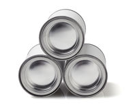 Three Tin Cans Royalty Free Stock Photos