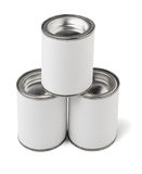 Three Tin Cans Stock Image