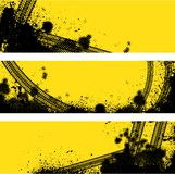Three tire track banner Royalty Free Stock Image