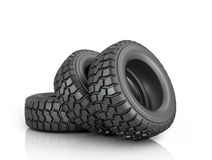 Three tires Stock Images