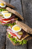 Three toast sandwiches Stock Photos