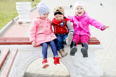 Three toddlers royalty free stock photo