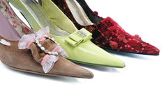 Three toe. Woman shoes on isolated background Royalty Free Stock Image