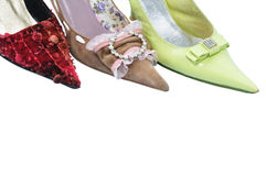 Three toes woman shoes Stock Images