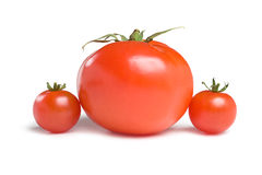 Three tomatoes-3 Royalty Free Stock Photos