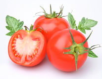 Three tomatoes Stock Image