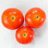 Three tomatoes isolated Royalty Free Stock Image
