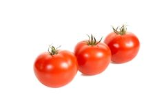Three tomatos. Royalty Free Stock Photo