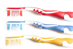 Three Toothbrushes Stock Photo