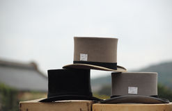 Three top hats. Stock Photography