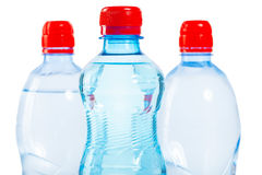 Three tops of bottles of water Royalty Free Stock Photo