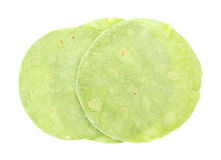 Three Tortilla Wraps Top View Stock Photography