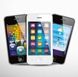 Touchscreen smartphones Royalty Free Stock Image