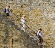 Three tourist in Lisbon Stock Photos