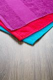 Three towels Stock Images