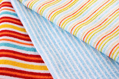 Three towels. Three colorful towels as a background Royalty Free Stock Image
