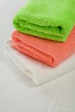 Three towels on white background Royalty Free Stock Images