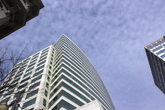 Three towers. Three office buildings in downtown Portland Oregon Stock Photo