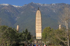 Three towers in DaLii Royalty Free Stock Photography