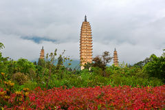 The three towers at the foot of the cang mountain Royalty Free Stock Photography