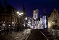 The three towers of Ghent Stock Image