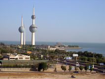 Three towers in Kuwait Royalty Free Stock Images