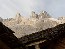 The Three Towers in the Raetikon mountains Stock Photos