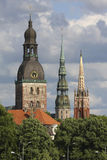 Three towers of Riga Stock Image