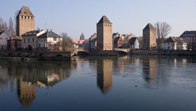 Three Towers Strasbourg Royalty Free Stock Photos