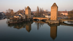 Three Towers of Strasbourg Stock Photos
