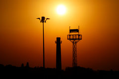 The three towers at sunset. Royalty Free Stock Photo