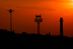 The three towers at sunset. Royalty Free Stock Images