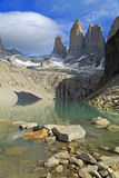 The Three Towers at Torres del Paine National Park, Patagonia Royalty Free Stock Images