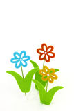 Three toy flowers Stock Photo