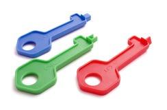 Three toy keys Royalty Free Stock Image