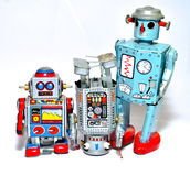 Three toy robots Royalty Free Stock Photography