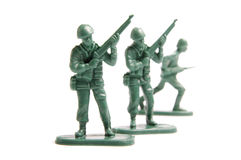 Three toy soldiers Royalty Free Stock Photos