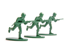 Three toy soldiers Royalty Free Stock Photography