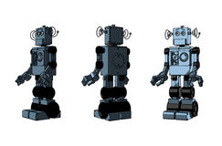 Three toys - robots Royalty Free Stock Photography