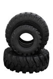 Three tractor tyre covers. Separately on a white background Royalty Free Stock Images