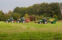 Three tractors Stock Image
