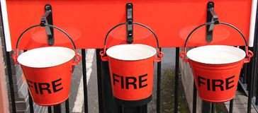 Fire Buckets. Royalty Free Stock Image