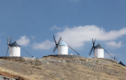 Three traditional spanish windmills Stock Image