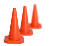 Three traffic cones Royalty Free Stock Image